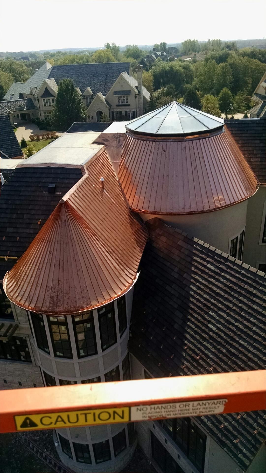 Copper Roof Dome Skylight Copper Roof Copper In Architecture Roof Design