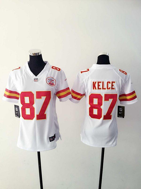 5eef14074 Womens Kansas City Chiefs 87 Kelce White Nike Jerseys