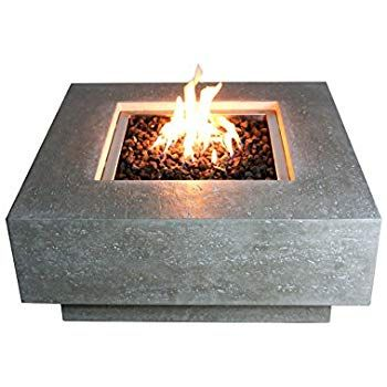 Amazon Com Elementi Granville Fire Table Cast Concrete Natural Gas Fire Table Outdoor Fire Pit Fire Table Patio Furnit Fire Pit Fire Table Outside Fire Pits
