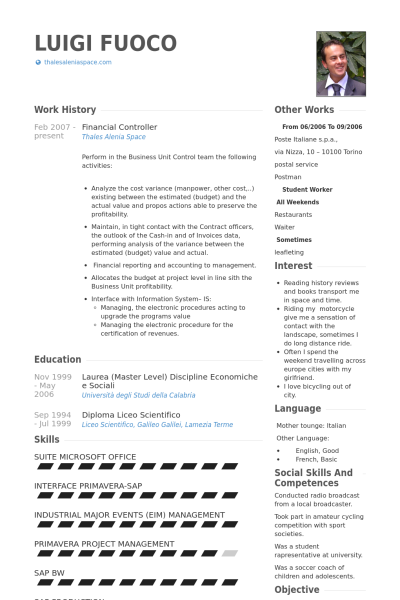 Financial Controller Resume Samples Visualcv Resume Samples Database Resume Examples Resume Free Resume Examples