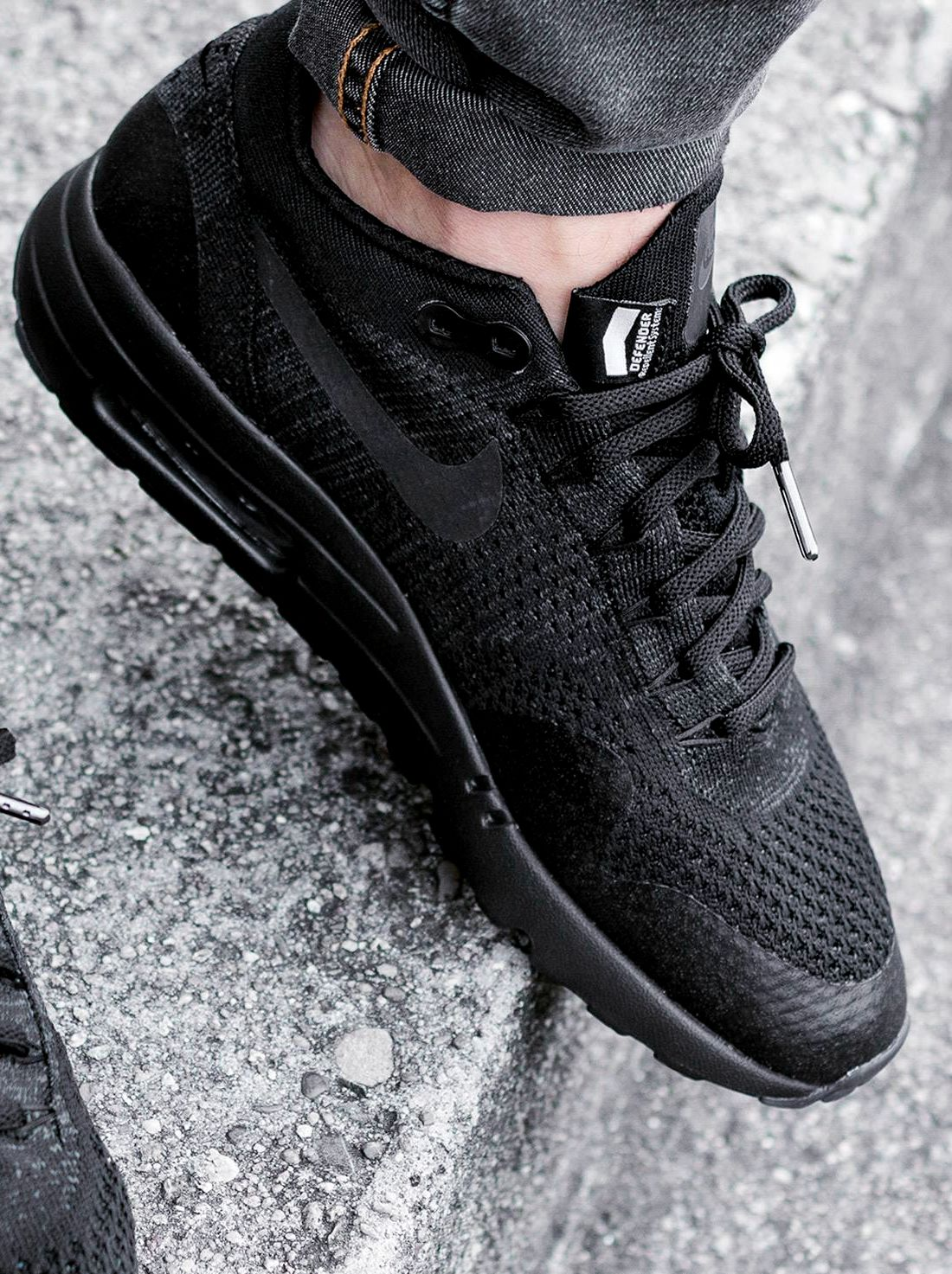 buy popular 676f6 872da Nike Air Max 1 Ultra Flyknit  Blackout  (via Kicks-daily.com)