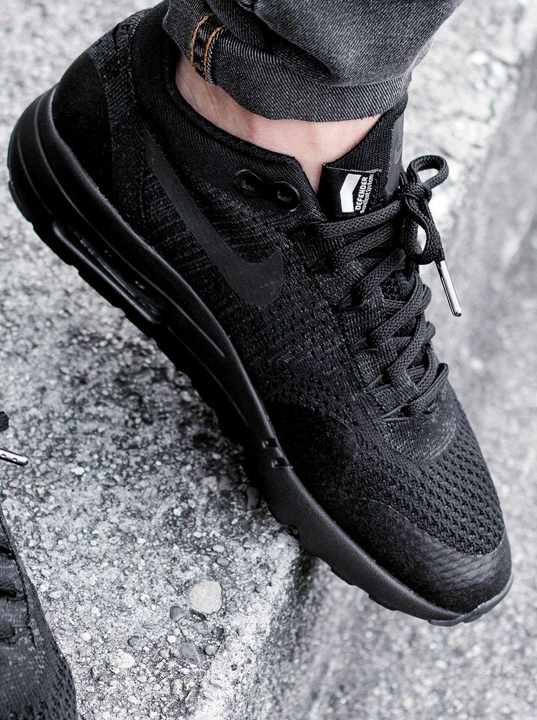 Nike Air Max 1 Ultra Flyknit 'Blackout' | Nike air max, Nike ...