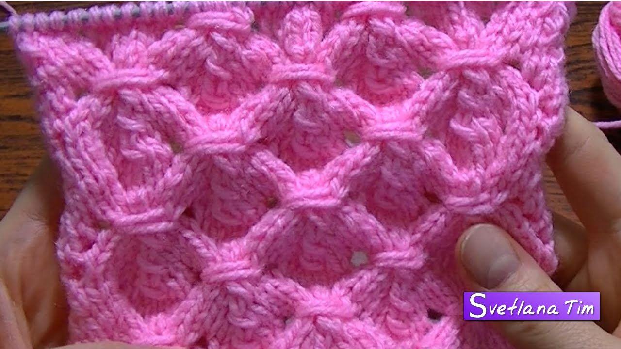 Вязание на спицах # 8 УЗОР Обхватывающие петли.