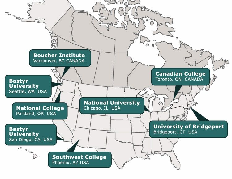 Schools Of Naturopathic Medicine If I Were A Doctor Pinterest - Us map of medical schools