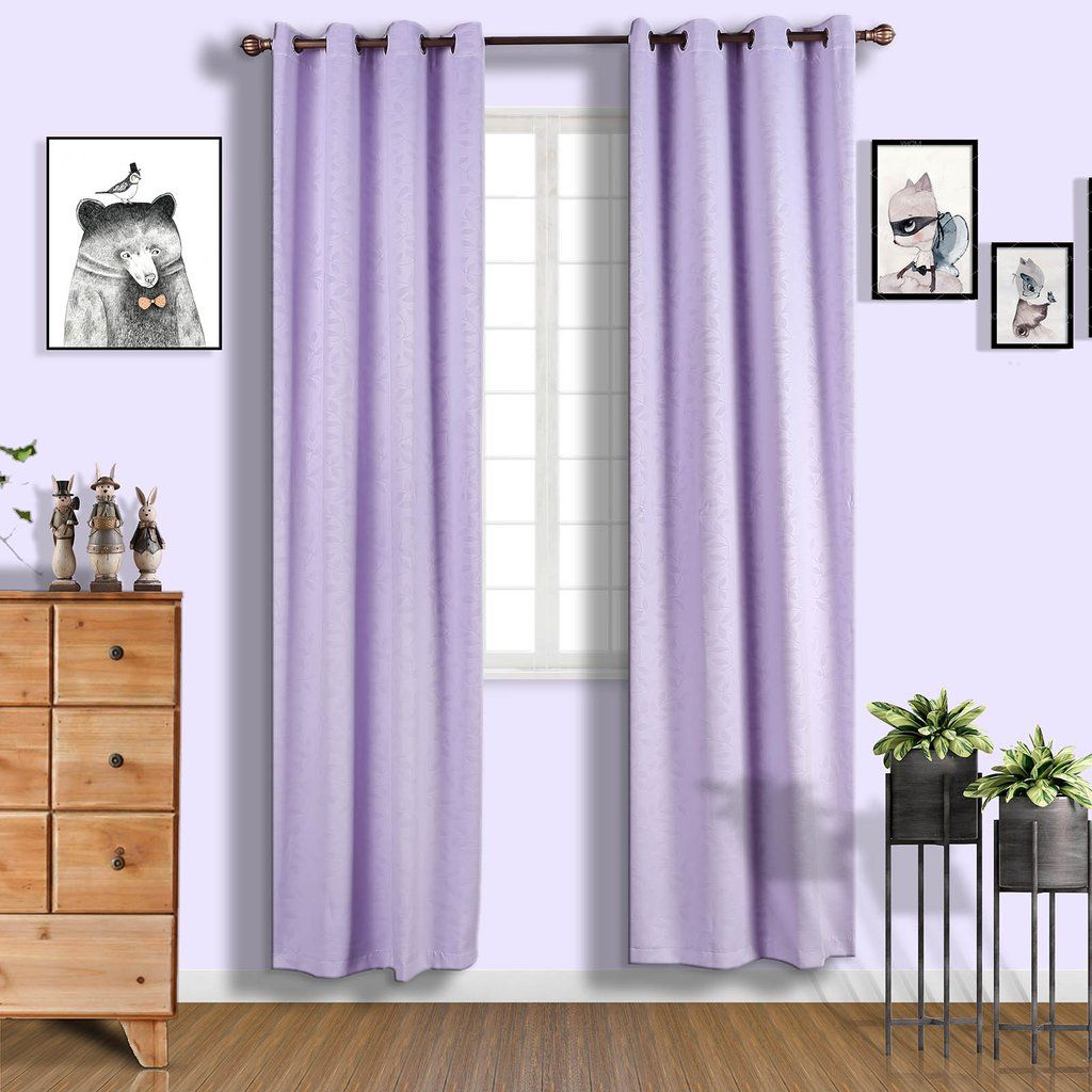 Lavender Soundproof Curtains Pack Of 2 Embossed Curtains 52 X 108 Inch Blackout Curtains Eyelet Blackout Curtains Clearance Sale In 2020 Drapes Curtains Curtains Grommet Window Treatments