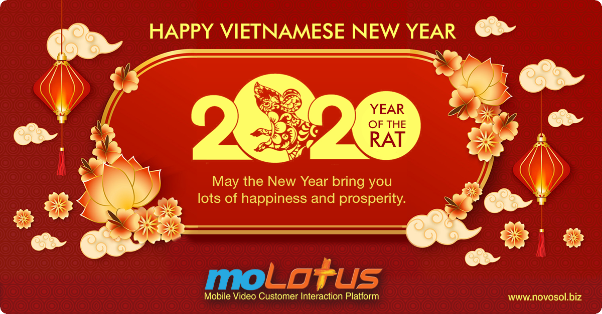 Happy Vietnamese New Year From Molotus In 2020 Happy Vietnamese New Year Customer Interaction Mobile Video