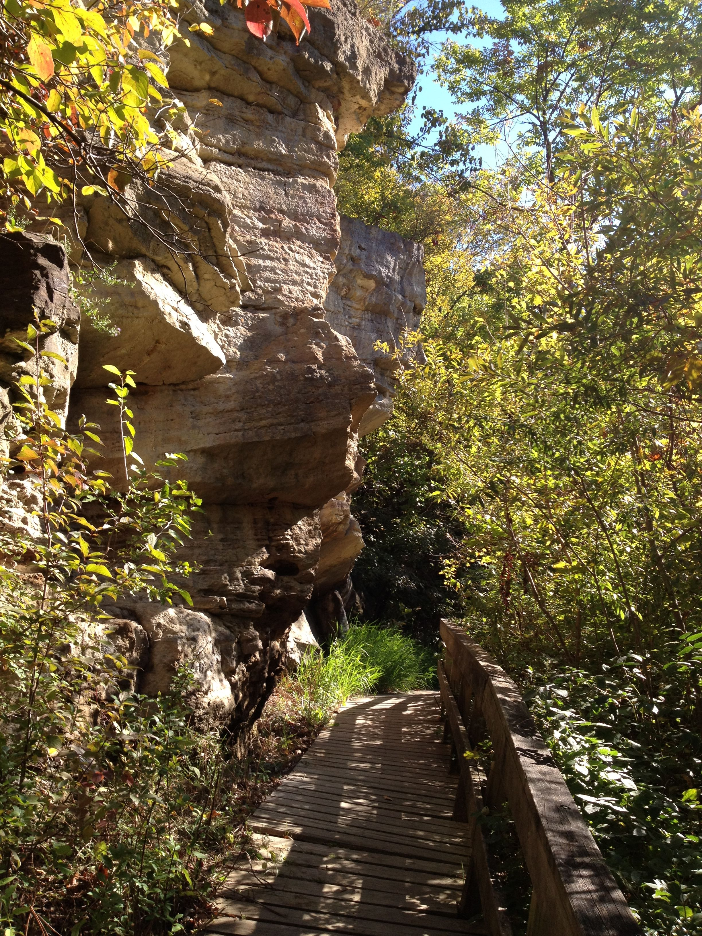 Great hiking trail in Blackhawk State Park in Rock Island, IL ...