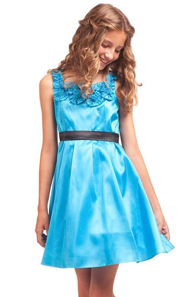 blue girl fifth grade graduation dresses | dresses girls kid ...