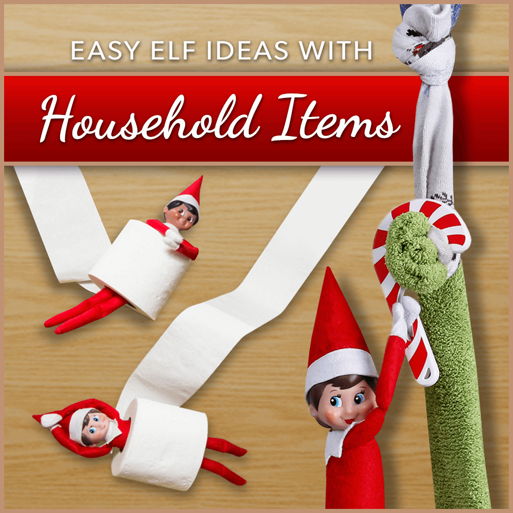 Common Household Items Can Create Easy Elf Ideas Elf Ideas Easy Elf Christmas Crafts For Kids