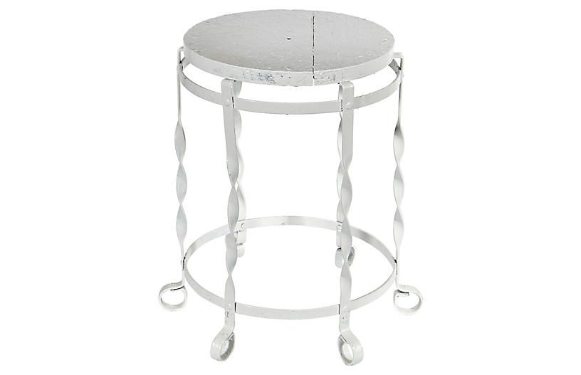 White Metal And Wood Rustic Stool With Images Rustic Stools