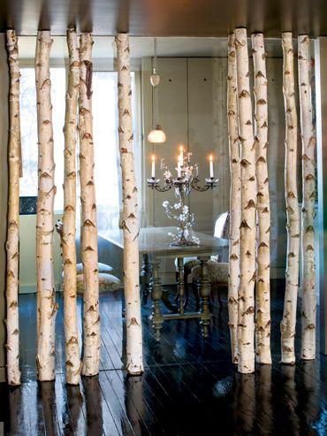 Elle Belgique La Cloison En Troncs De Bouleau Home Decor Inspiration Wall Screen Home Deco