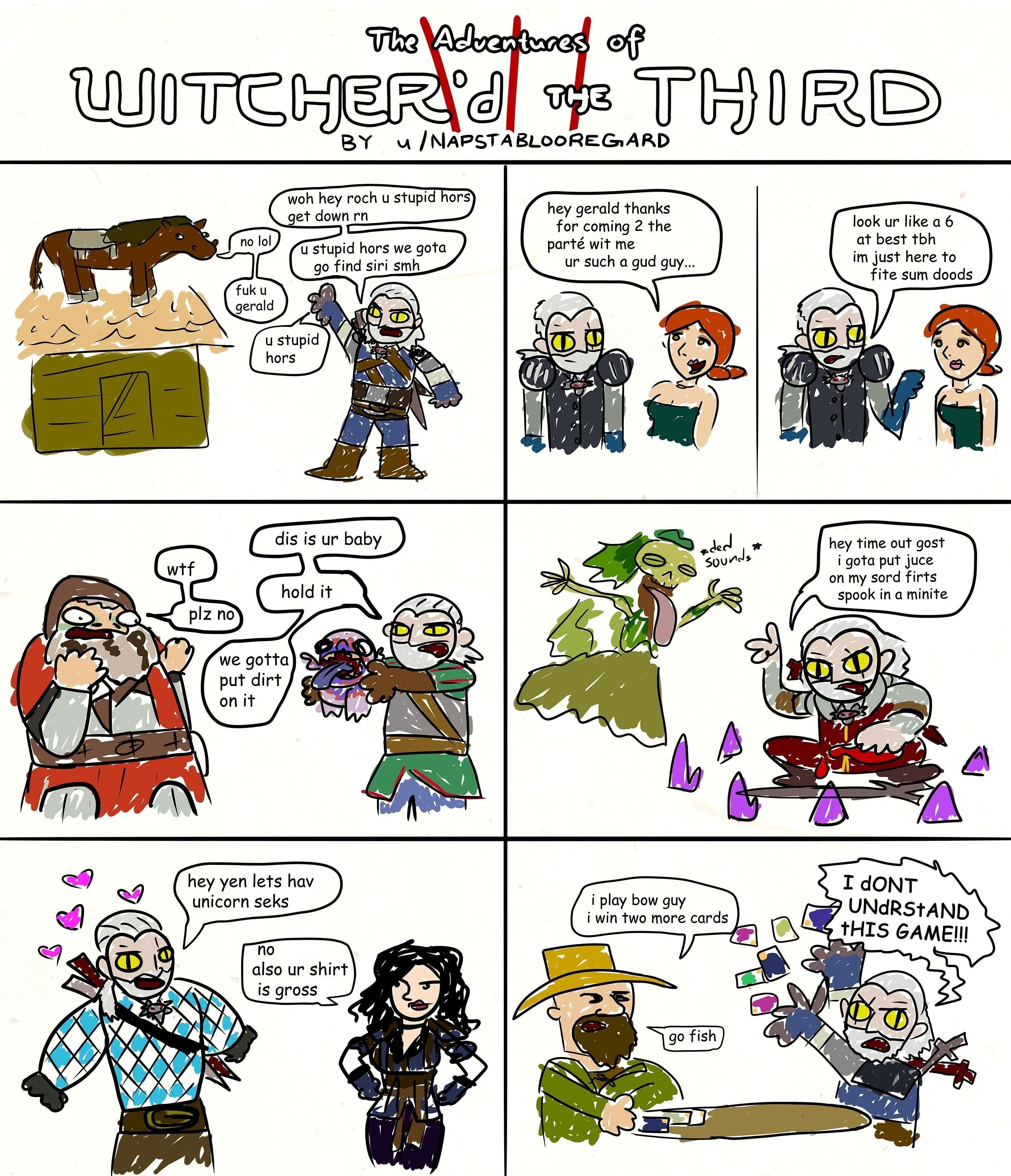 OC] I made some crappy Witcher 3 comics  [x-post r/gaming