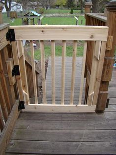Short Gate For A Deck Google Search Deck Gate Wooden Decks