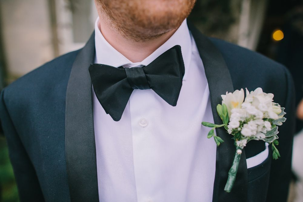 Groomsmen Groom 1920 S Black Tie Tuxedo Onhole Flower Smart
