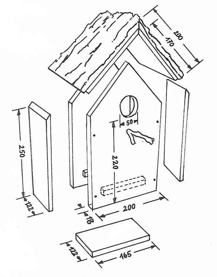 bauplan vogelhaus vogelhaus pinterest bauplan vogelhaus haus und v gel. Black Bedroom Furniture Sets. Home Design Ideas