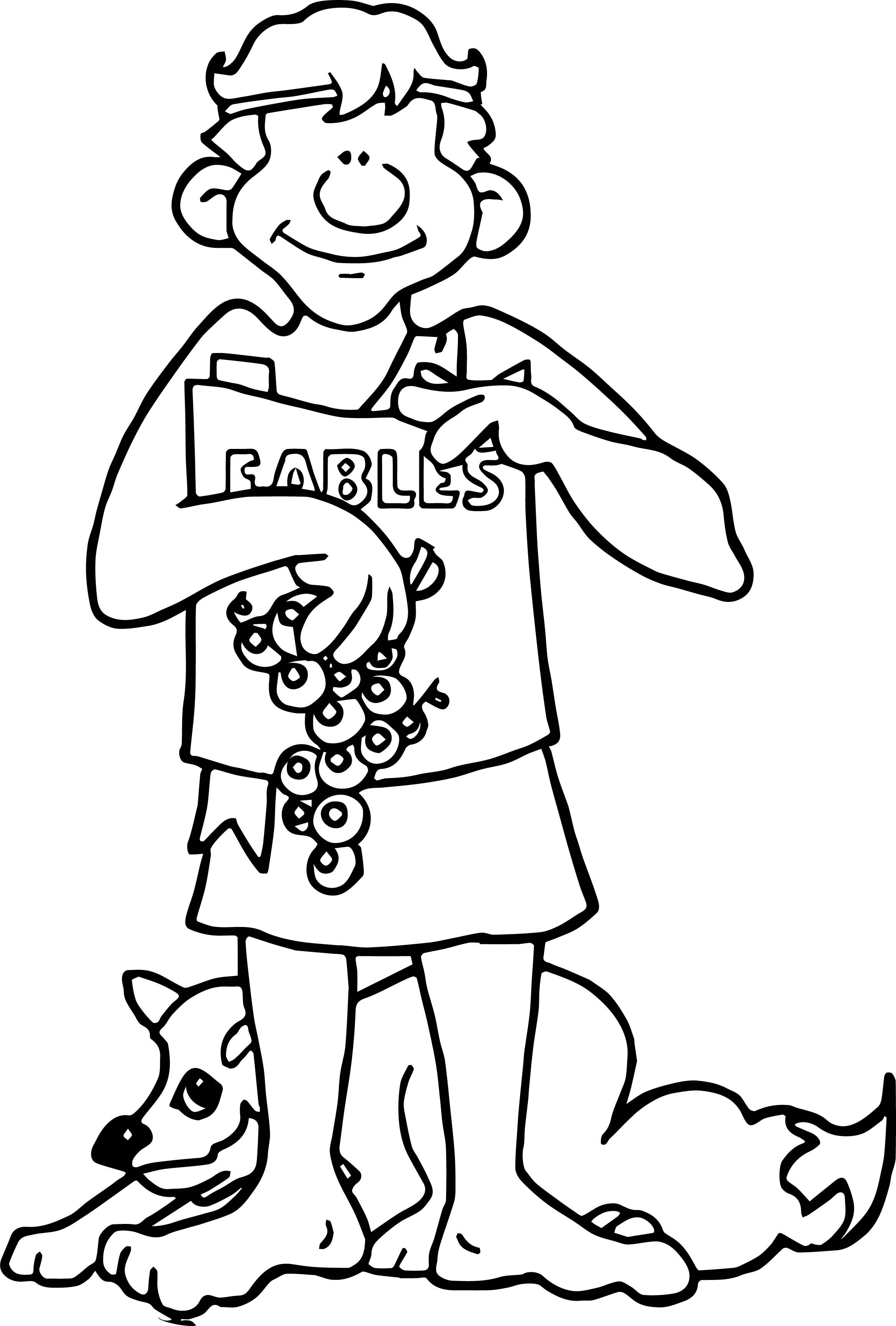 Nice Greece Aesops Coloring Page