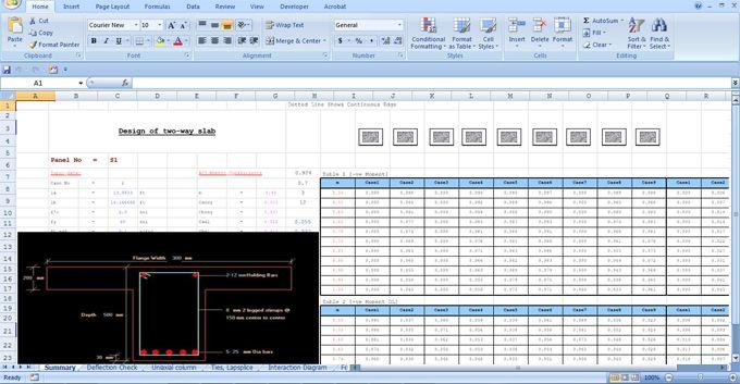 Download Excel Sheet For Designing T Beam Building Information Modeling Construction Estimating Software Excel