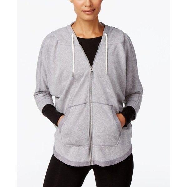 Calvin Klein Performance Dolman Zip Hoodie ($40) ❤ liked on Polyvore featuring tops, hoodies, stone, calvin klein tops, zip hoodie, dolman-sleeve top, hoodie top and hooded sweatshirt