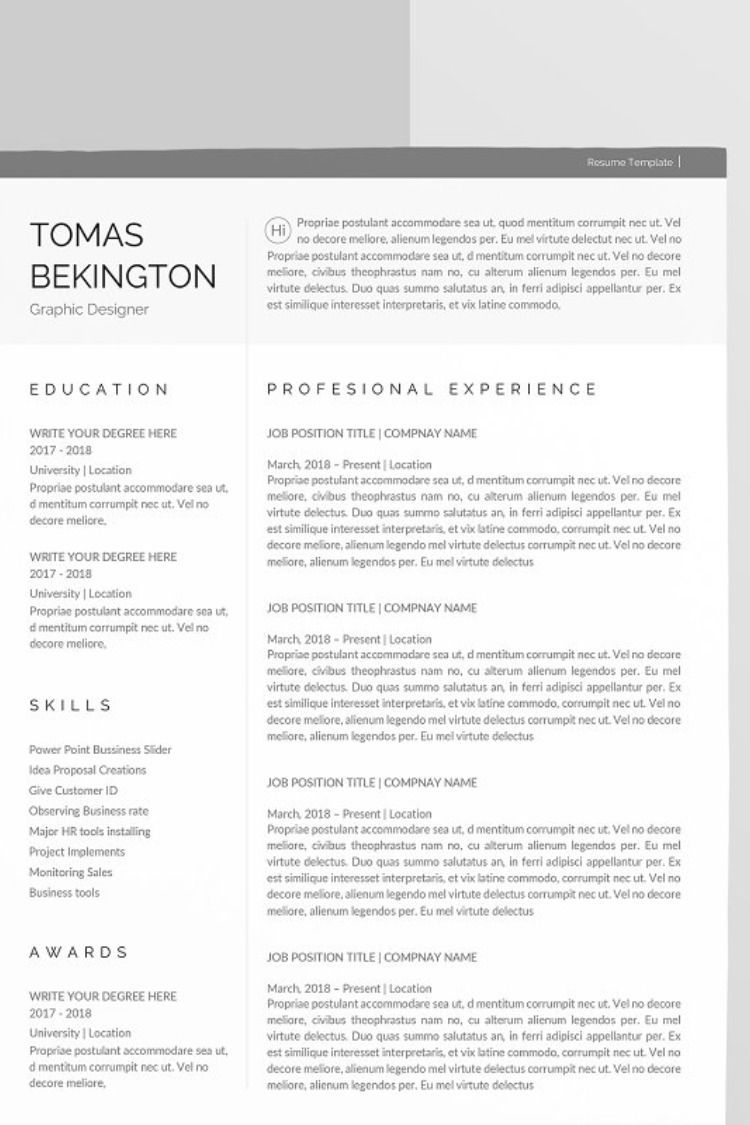 A4 Word Resume Cover letter for resume, Clean resume