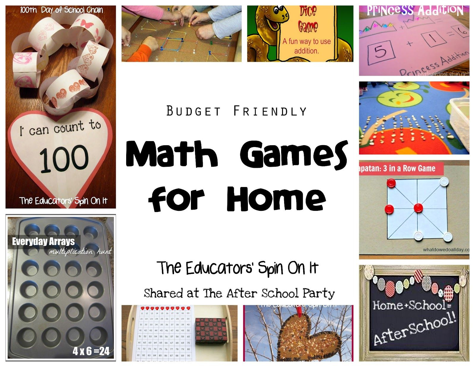 Budget Friendly Math Games for Home from The Educators\' Spin On It ...