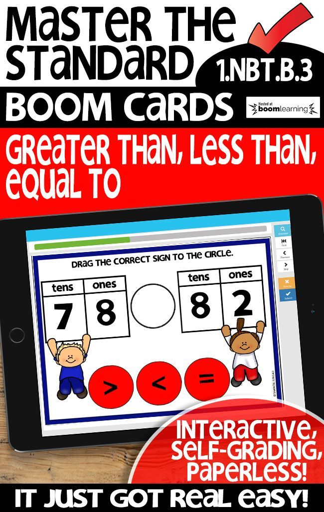 Comparing tens and ones | 1.NBT.B.3 | BOOM CARDS| Distance Learning