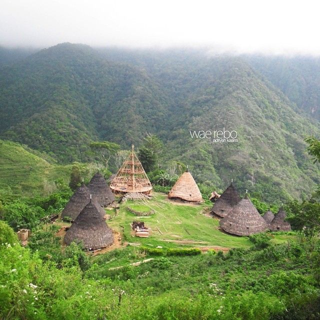 Wae Rebo, Flores, Indonesia.. December 2013 #indonesia #architecture #traditionalhouse #house #flores #tribes #culture