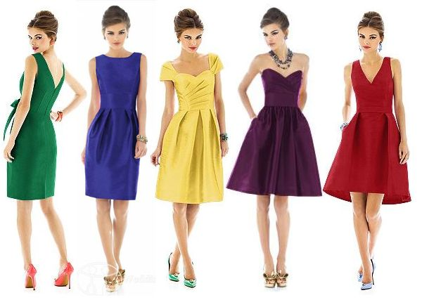 Fab Styles For Bridesmaid Dresses Maybe In The Same Colour But Diffe Shades Jewel Tone
