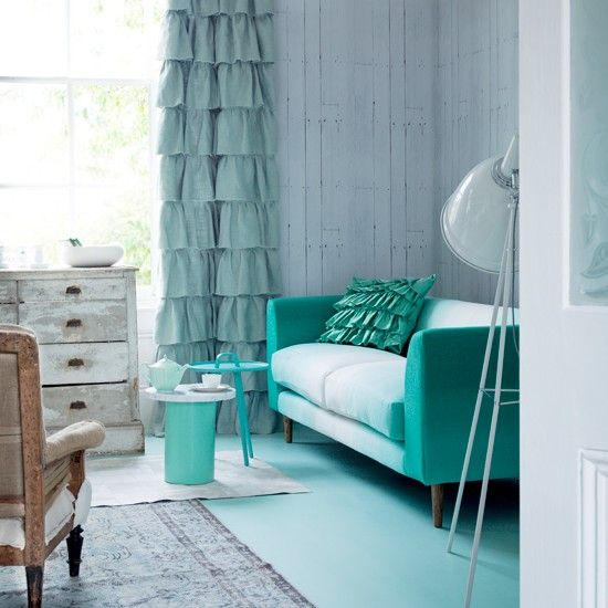 Teal And Mint Living Rooms | Mint Green Living Room | Living Room  Decorating Ideas | Livingetc .