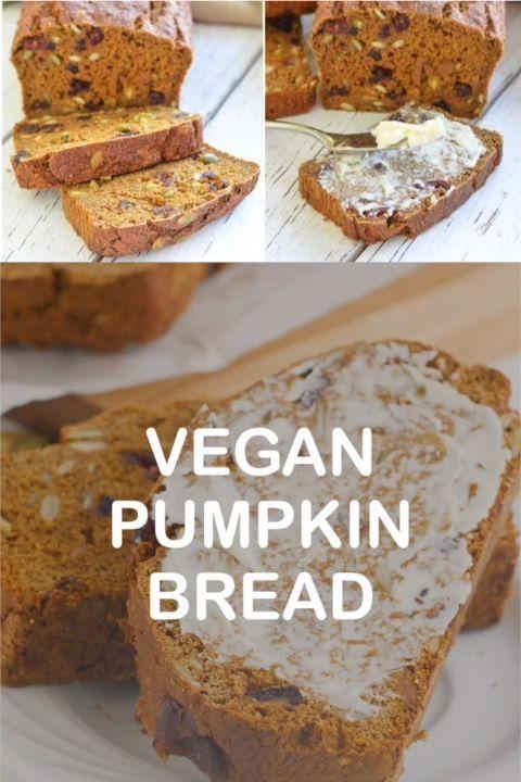 Vegan Pumpkin Bread with Cranberries