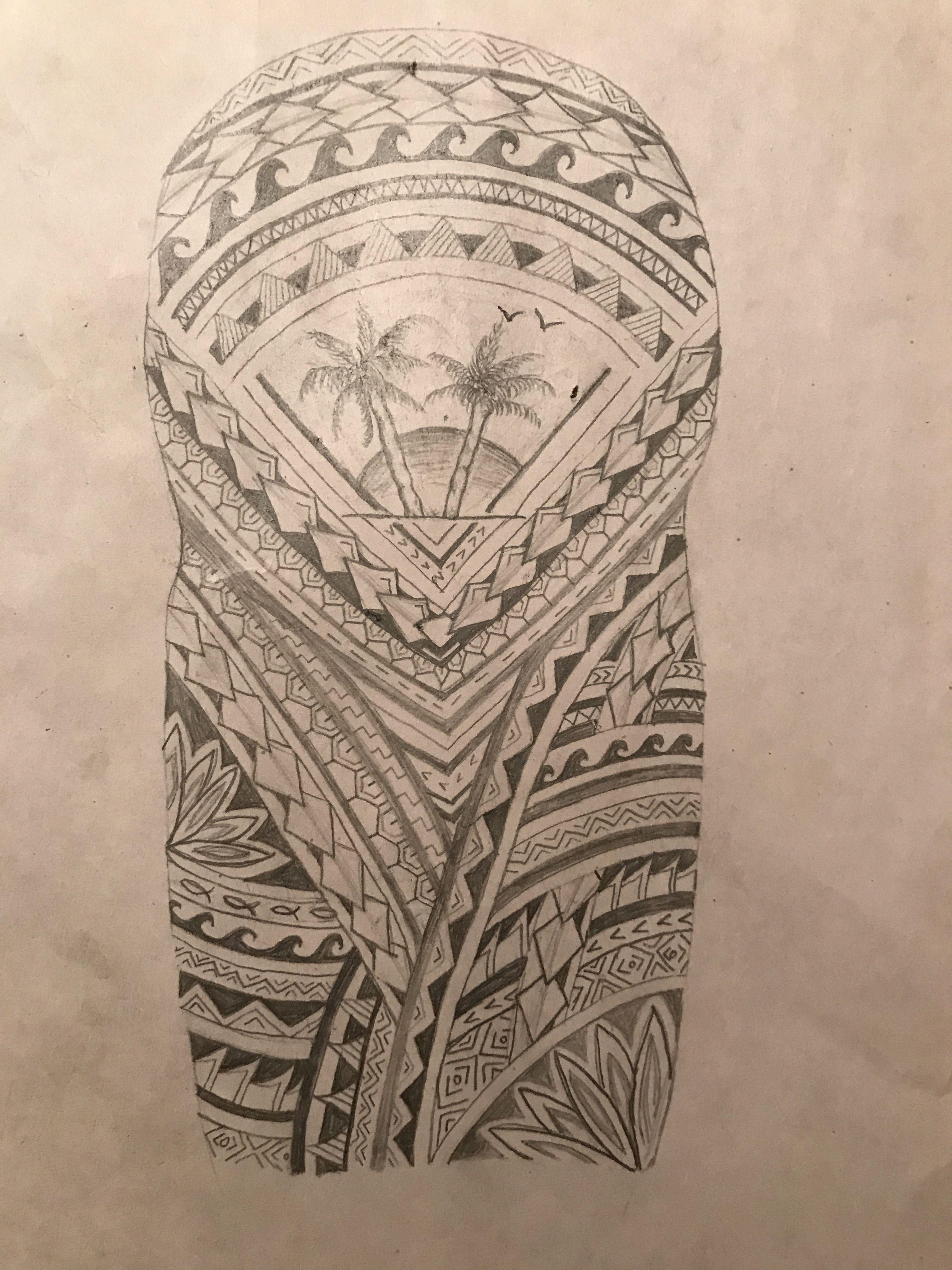 First Design Polynesian Half Sleeve With Tropical Theme Inkbyisabella Half Sleeve Tattoos Designs Half Sleeve Tattoos Drawings Half Sleeve Tattoo