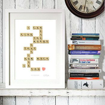 Just another reason I love scrabble- maybe i will make something like this for my cousin's wedding