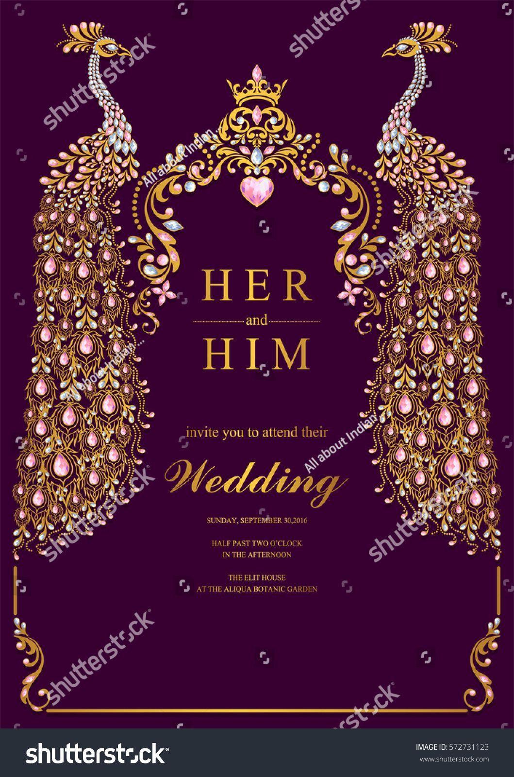 Peacock Wedding Invitation Templates Indian Wedding Invitations Indian Wedding Invitation Cards Indian Wedding Cards