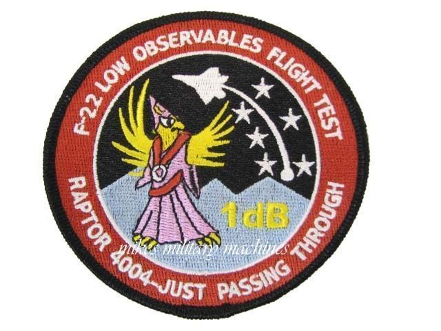 Air Force Area 51 Special Projects Black Ops F-22 Raptor Low Observables Patch