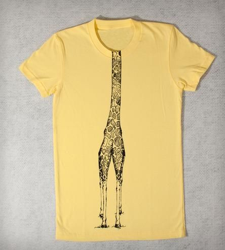 c4015283 Giraffe Body T-Shirt - Ladies | Individually hand-printed artist original T- shirts using profe... | T-Shirts