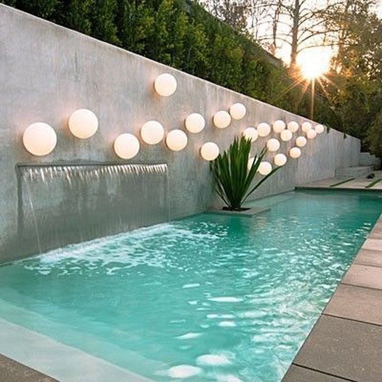 Awesome Small Swimming Pool Designs With Waterfall Swimmingpools Swimmingpooldesign Poolland Cool Swimming Pools Luxury Pools Backyard Swimming Pool Designs