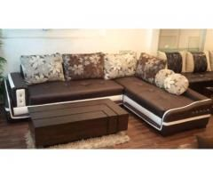 Five Seater Sofa With Poshish Table Furniture Sofa Set Rectangular Living Rooms Corner Sofa Living Room