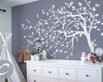 Large White Tree Wall Sticker Blooming Tree Wall Decal Large Tree - Portal 2 wall decalsbest wall decals images on pinterest