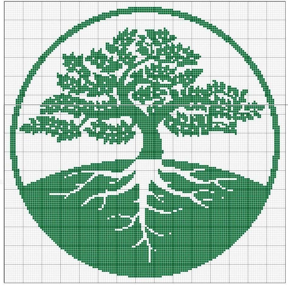 Xalberi drzewa pinterest filet crochet cross stitch and stitch tree of life filet crochet bankloansurffo Images