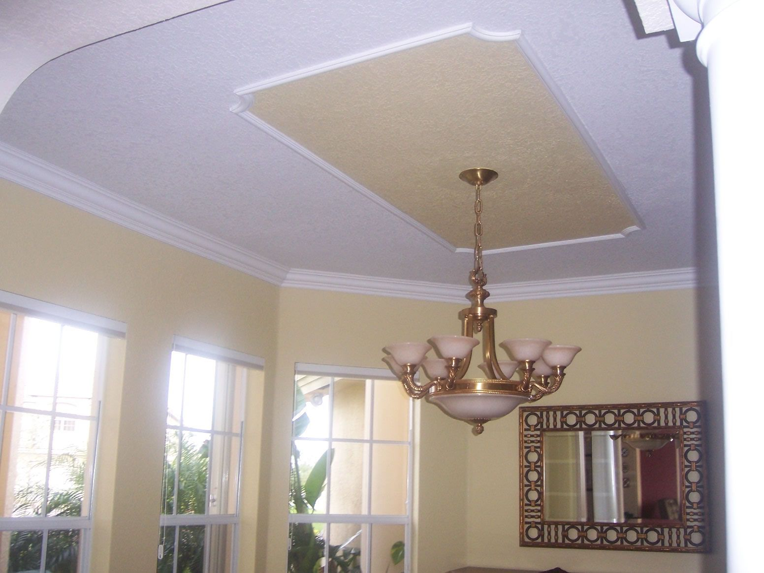 Faux Tray Ceiling With Molding Google Search Popcorn
