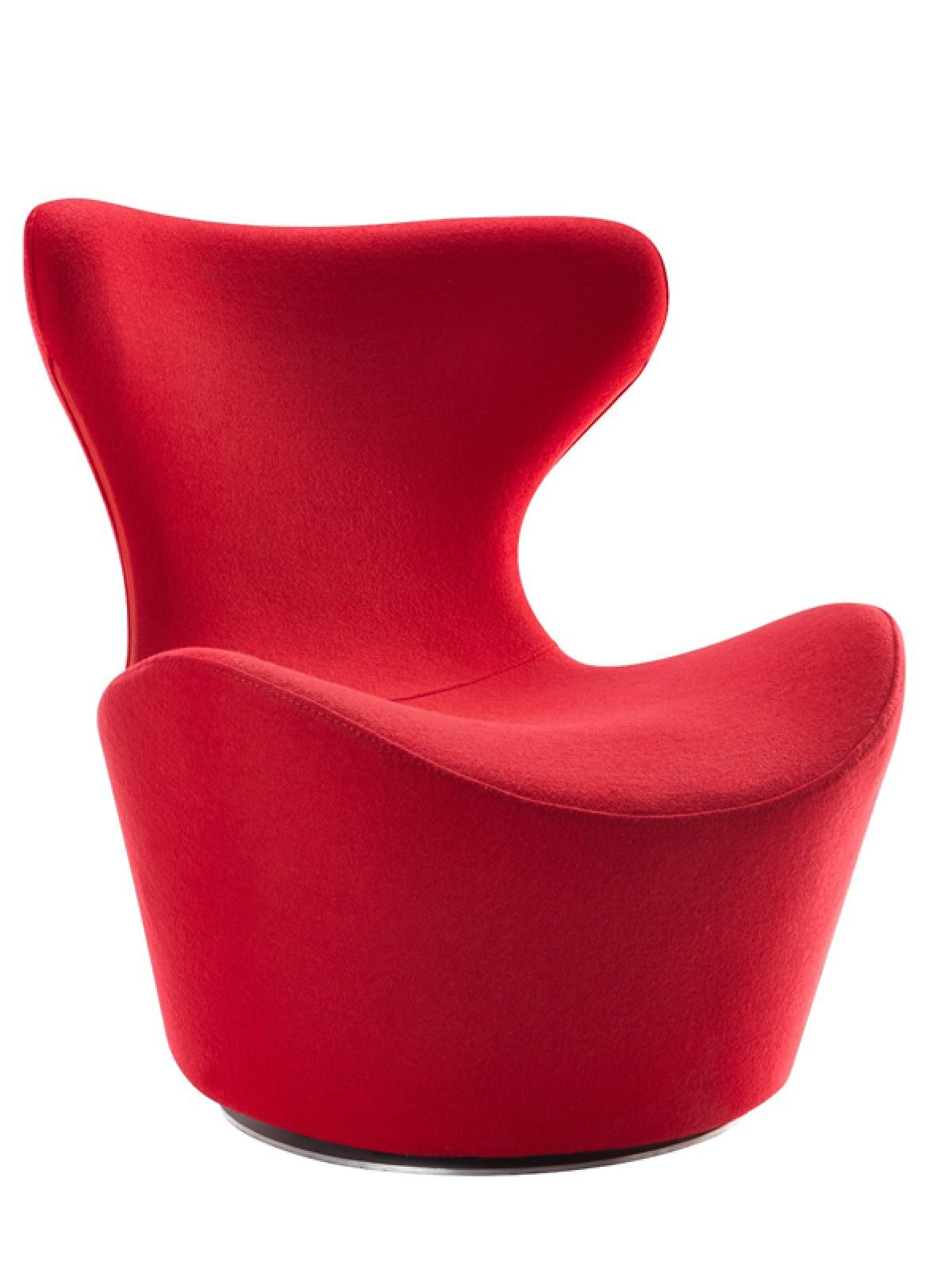 Modrest Hadrian Modern Red Fabric Accent Chair Lounge Lounge