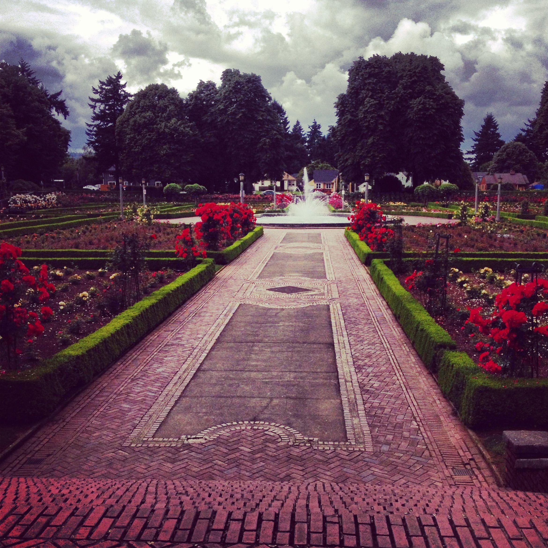 Peninsula Park in N. Portland, Oregon Rose garden