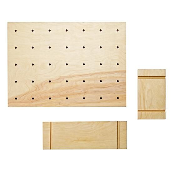 Pegboard and set of two shelves  | The Land of Nod