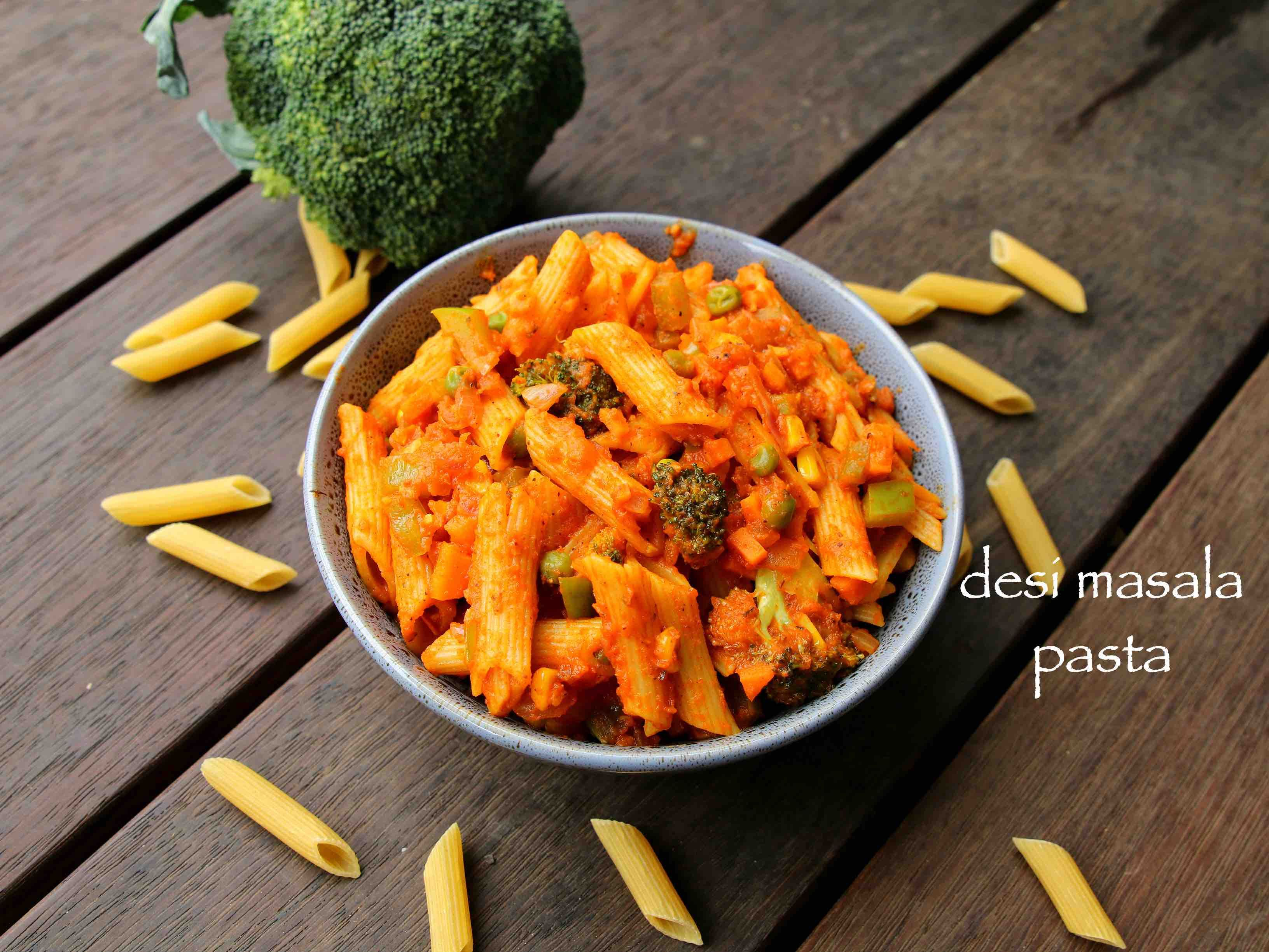 Masala pasta recipe indian style pasta indian pasta recipes with food masala pasta recipe indian forumfinder Image collections