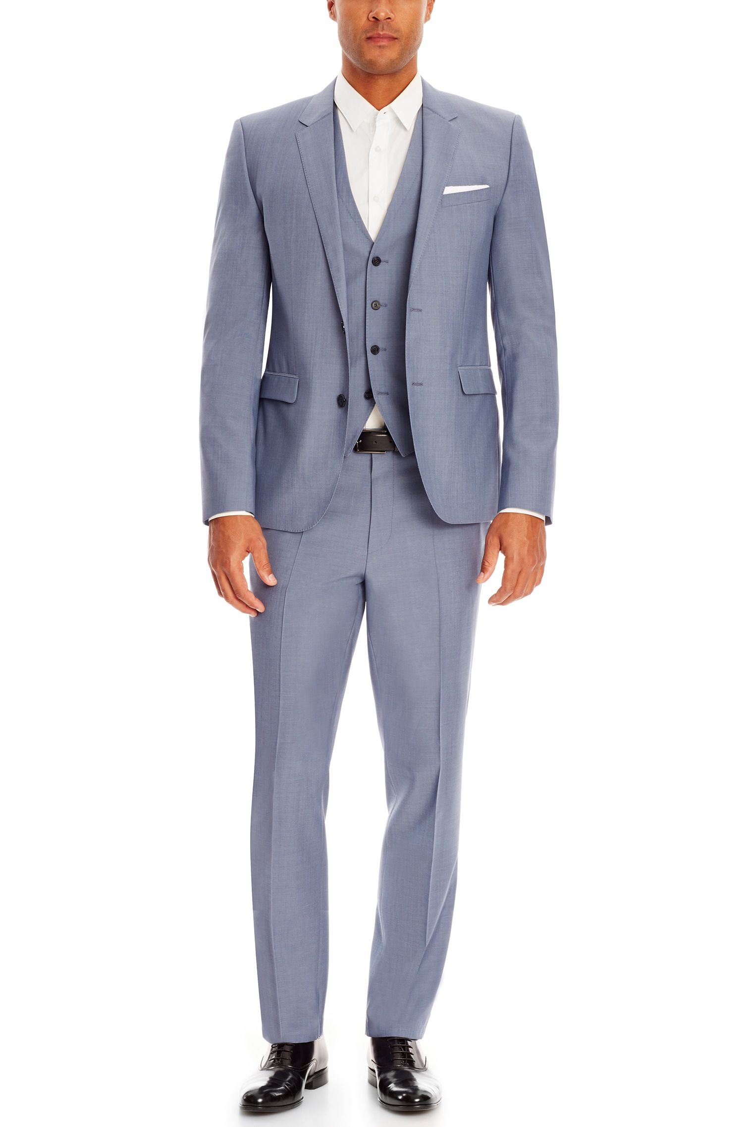 9ade35a5 a blueish grey option | Hugo Boss | 'Awryn/Weyn/Hyman' | Slim Fit, Virgin  Wool Mohair 3-Piece Suit