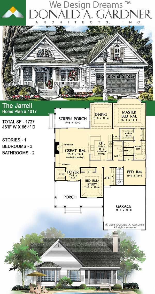 The Jarrell Small Country House Plan Small Country Homes Craftsman House Plans French Country House Plans Plans for a small country house