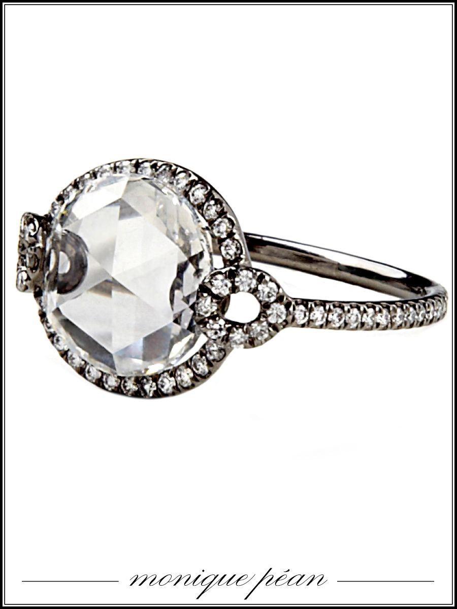 Monique Pan antique rosecut white diamond ring price upon