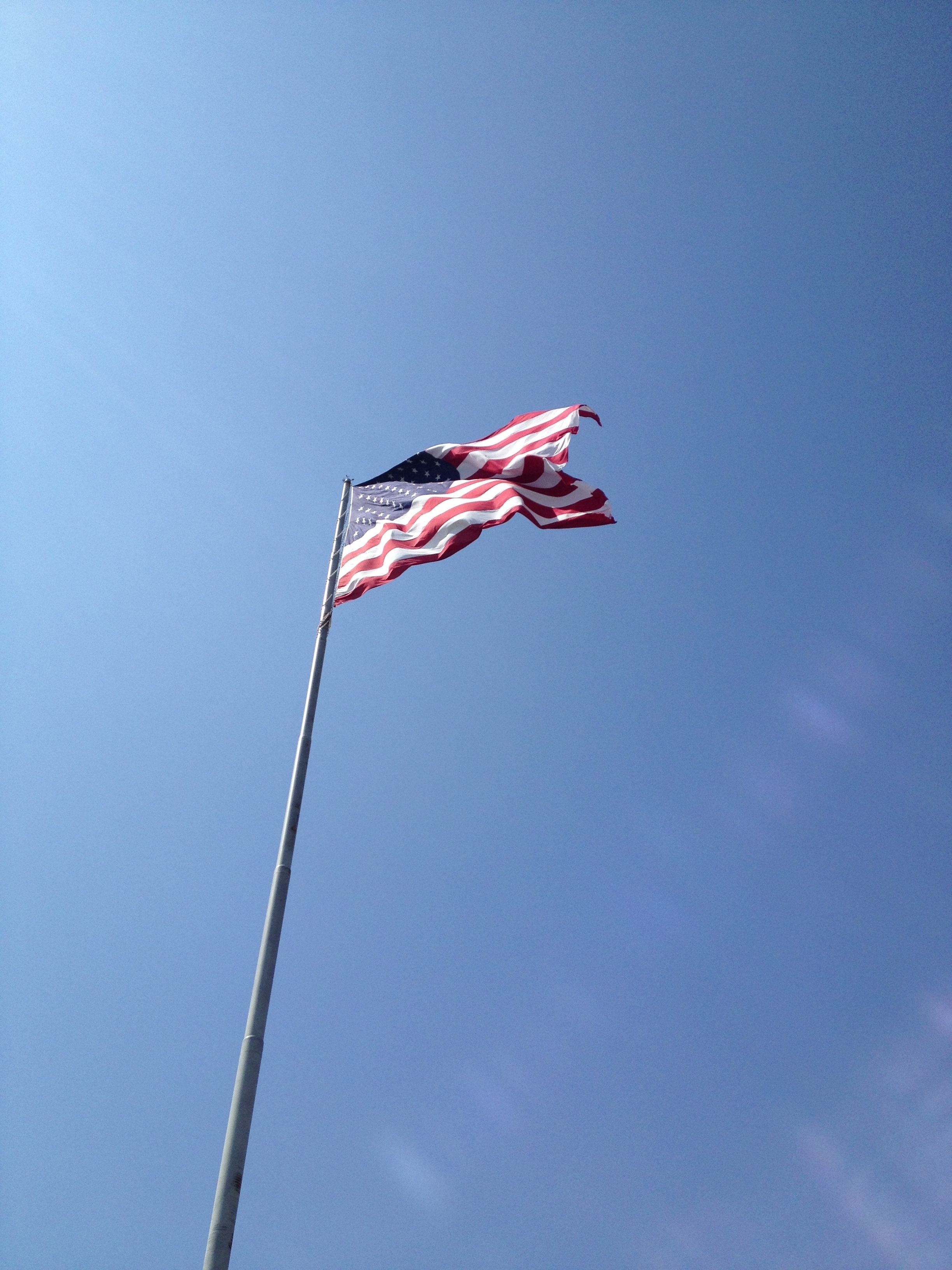 A Giant American Flag Can Be Seen From Anywhere At Fort De Soto