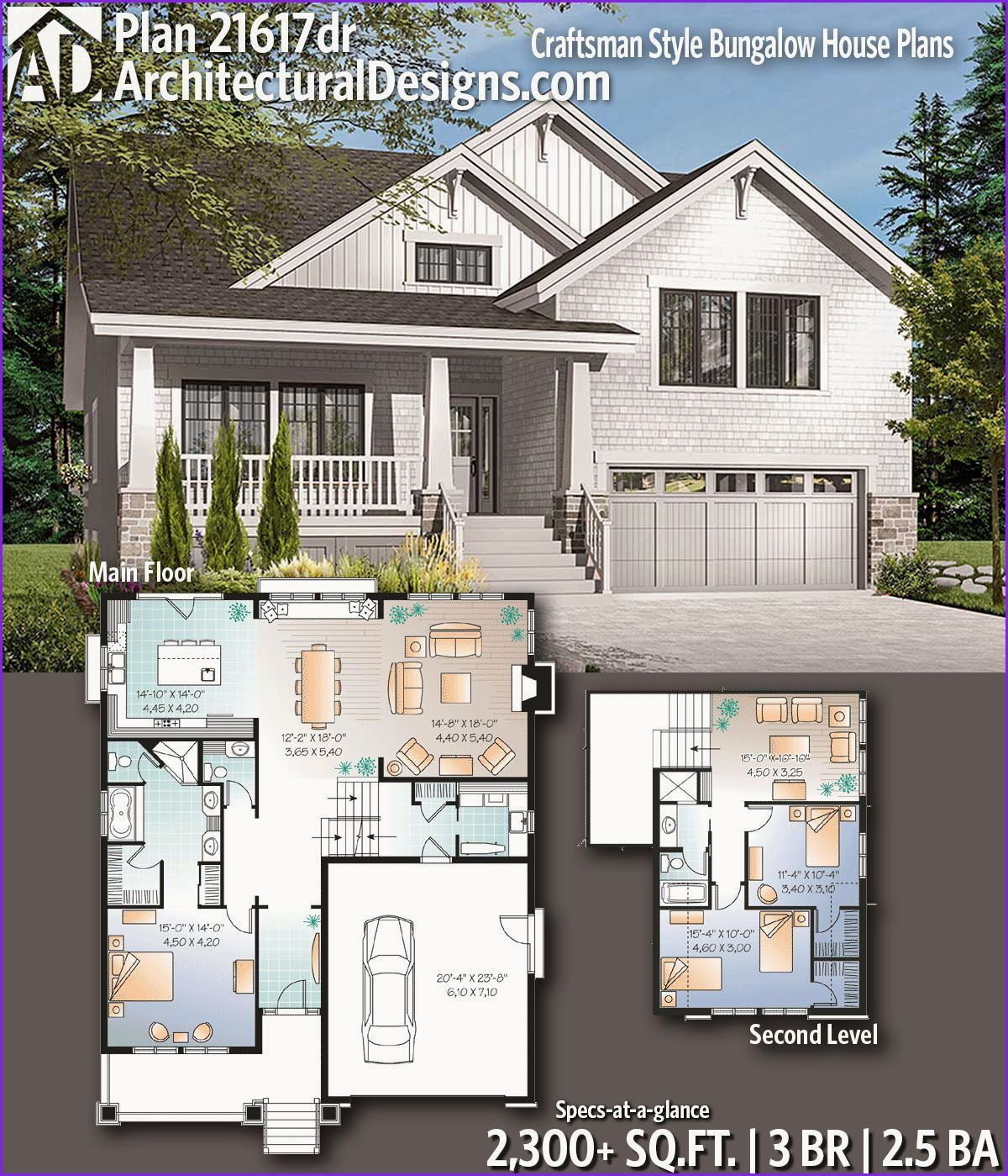 Awesome 4 Bedroom Bungalow House Plans Craftsman House Plans Craftsman House Designs Craftsman Style Bungalow
