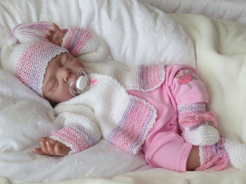Babygarnitur 3 Teilig Gr50 56 Weißrosa Pastell Von Babys Dreams