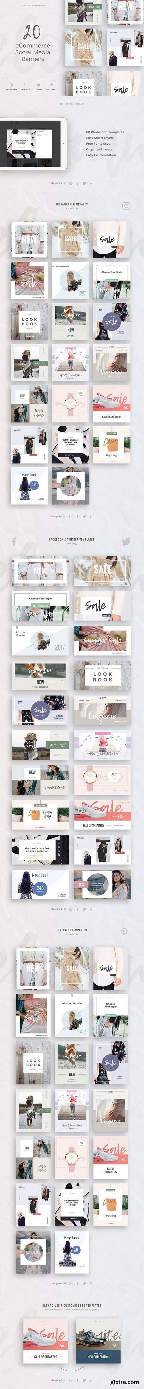 CM - eCommerce Social Media Kit 1530045   GFXTRA   Pinterest ...